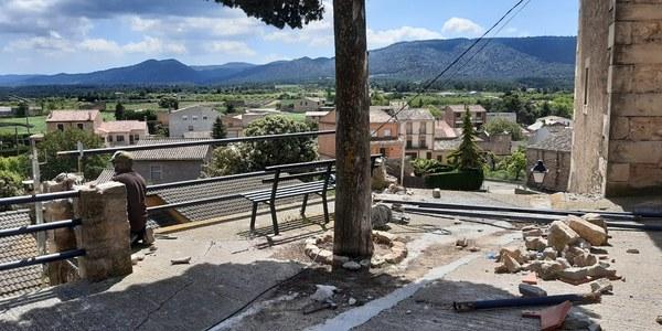 Començament de les obres a la Plaça del Cementiri Vell. Foto 01
